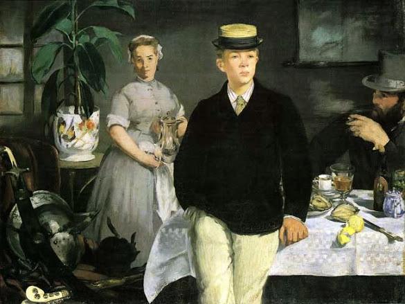 edouard-manet-prima-colazione-in-studio-giacca-nera
